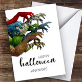 Scary Monster Arms Customised Happy Halloween Card
