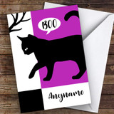 Silhouette Cat Boo Customised Happy Halloween Card