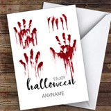 Scary Hand Prints Customised Happy Halloween Card