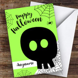 Silhouette Skull Customised Happy Halloween Card