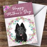 Belgian Shepherd Sheepdog Dog Traditional Animal Customised Mother's Day Card