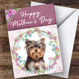 Yorkshire Terrier Dog Traditional Animal Customised Mother's Day Card