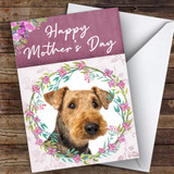 Airedale Terrier Dog Traditional Animal Customised Mother's Day Card