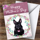 Scottish Terrier Dog Traditional Animal Customised Mother's Day Card