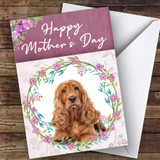 Cocker Spaniel Dog Traditional Animal Customised Mother's Day Card