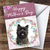 Cairn Terrier Dog Traditional Animal Customised Mother's Day Card