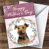 Welsh Terrier Dog Traditional Animal Customised Mother's Day Card