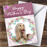 Afghan Hound Dog Traditional Animal Customised Mother's Day Card