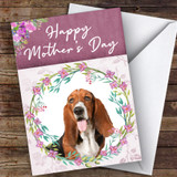 Basset Hound Dog Traditional Animal Customised Mother's Day Card