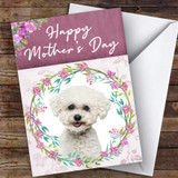 Bichon Frise Dog Traditional Animal Customised Mother's Day Card