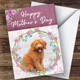 Goldendoodle Dog Traditional Animal Customised Mother's Day Card