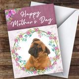 Bullmastiff Dog Traditional Animal Customised Mother's Day Card
