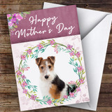 Fox Terrier Dog Traditional Animal Customised Mother's Day Card