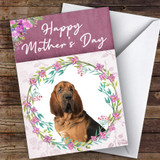 Bloodhound Dog Traditional Animal Customised Mother's Day Card