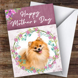 Pomeranian Dog Traditional Animal Customised Mother's Day Card