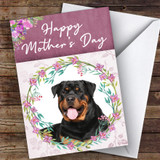 Rottweiler Dog Traditional Animal Customised Mother's Day Card