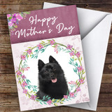 Schipperke Dog Traditional Animal Customised Mother's Day Card