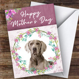Weimaraner Dog Traditional Animal Customised Mother's Day Card