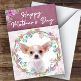 Chihuahua Dog Traditional Animal Customised Mother's Day Card