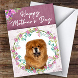 Chow Chow Dog Traditional Animal Customised Mother's Day Card