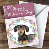 Dachshund Dog Traditional Animal Customised Mother's Day Card
