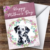 Dalmatian Dog Traditional Animal Customised Mother's Day Card