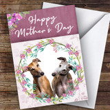 Greyhound Dog Traditional Animal Customised Mother's Day Card