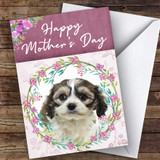 Cavachon Dog Traditional Animal Customised Mother's Day Card
