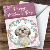 Shih Tzu Dog Traditional Animal Customised Mother's Day Card