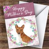 Basenji Dog Traditional Animal Customised Mother's Day Card