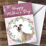 Whippet Dog Traditional Animal Customised Mother's Day Card