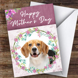 Beagle Dog Traditional Animal Customised Mother's Day Card