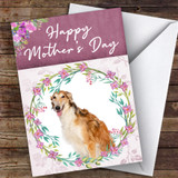 Borzoi Dog Traditional Animal Customised Mother's Day Card