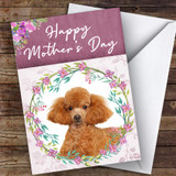 Poodle Dog Traditional Animal Customised Mother's Day Card