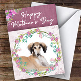 Saluki Dog Traditional Animal Customised Mother's Day Card