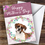 Boxer Dog Traditional Animal Customised Mother's Day Card