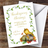Thanksgiving Blessings & Squashes Customised Happy Thanksgiving Card