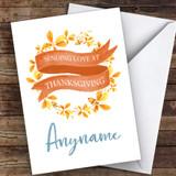 Beautiful Autumn Wreath Customised Happy Thanksgiving Card