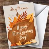 Roast & Leaves Customised Happy Thanksgiving Card