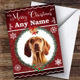 Hungarian Vizsla Pointer Dog Traditional Animal Customised Christmas Card