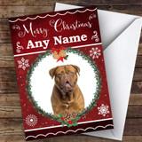 Dogue De Bordeaux Dog Traditional Animal Customised Christmas Card