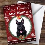 Scottish Terrier Dog Traditional Animal Customised Christmas Card