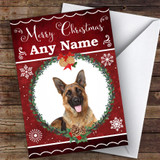 German Shepherd Dog Traditional Animal Customised Christmas Card