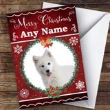 Samoyed Dog Traditional Animal Customised Christmas Card