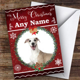 Whippet Dog Traditional Animal Customised Christmas Card