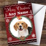Beagle Dog Traditional Animal Customised Christmas Card