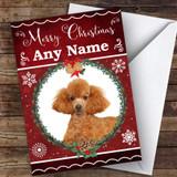 Poodle Dog Traditional Animal Customised Christmas Card