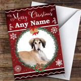 Saluki Dog Traditional Animal Customised Christmas Card