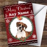 Boxer Dog Traditional Animal Customised Christmas Card