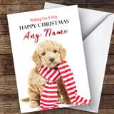 Cockerpoo Dog Puppy Animal Customised Christmas Card